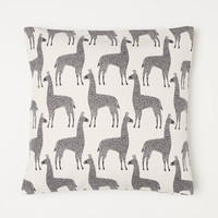 Patterned Cotton Cushion Cover - Natural white/llamas - Home All | H&M US
