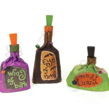 3 Halloween Decorations - Bottle