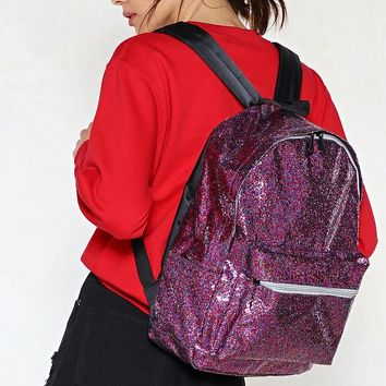 WANT Stop Traffic Glitter Backpack