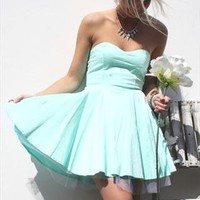 ASOS Mint Tu-tu Prom Strapless Dress from Boutique 73