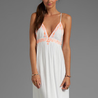 Dolce Vita Zorana Garbo Embroidery Dress in Coral/White from REVOLVEclothing.com