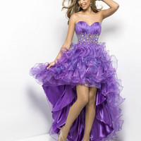 New High-Low Sweetheart  Formal Prom Evening Pageant Dresses Wedding Ball Gown