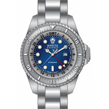 Invicta 16959 Men's Hydromax Reserve GMT Blue Dial Stainless Steel Dive Watch
