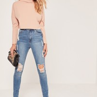Missguided - Tall Nude Grown On Neck Top