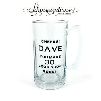 Personalized Beer Mug, Birthday Gift, Gift for Him