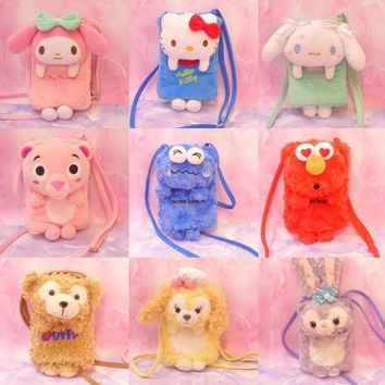 NEW Duffy Best New Friends Stellalou Rabbit Chef Dog Cookie Dog Plush melody KT Plush crossbody bag for girl gift