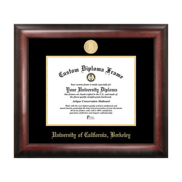 Campus Images Sports Team Logo Design University Of California, Berkeley Gold Embossed Diploma Frame