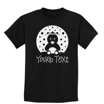 Personalized Matching Polar Bear Family Design - Your Text Childrens Dark T-Shirt