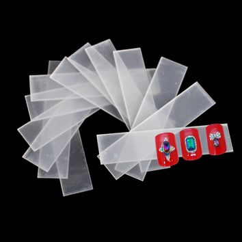 1pack 40pcs Nail Art Clear False Tips Display Stand Holder Practice Training Tools Polish Gel Rest Holder Showing Tools CH151