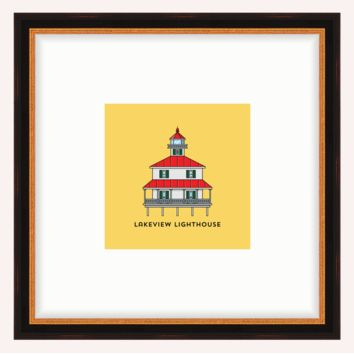 New Canal Lighthouse Framed Architecture Print
