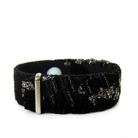 Anxiety/Stress Relief Bracelet (single band) Noir Shimmer