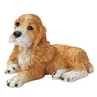 SheilaShrubs.com: Brown Cocker Spaniel Puppy Dog Statue CF2459 by Design Toscano: Garden Sculptures & Statues