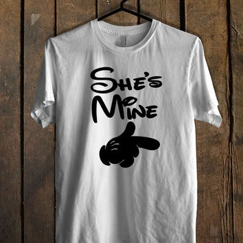 she s Mine he s Mine men T Shirt Mens T Shirt and Womens T Shirt *