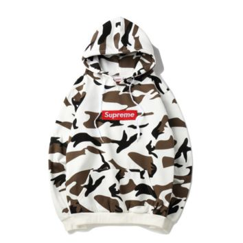 Supreme fashion fresh camouflage hoodie Sweater