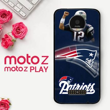 New England Patriots X3405  Motorola Moto Z Play Case