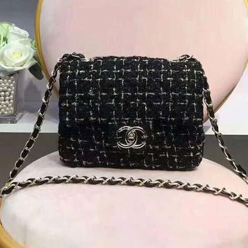 CHANEL Rainbow color Fashion Shopping Leather Metal Chain Crossbody Shoulder Bag For Women