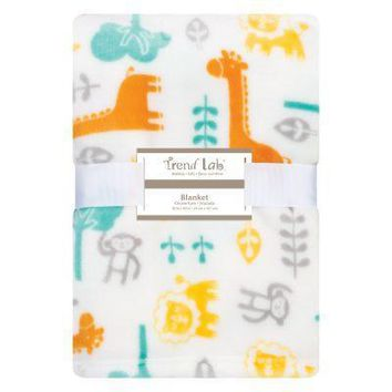Lullaby Jungle Plush Baby Blanket