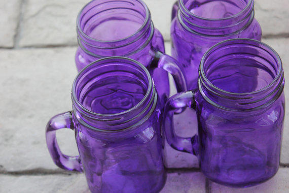 Purple Tinted Drinking Glasses