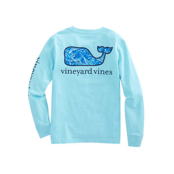 Boys Long-Sleeve Bonefish Whale Fill Pocket T-Shirt