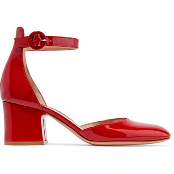 Gianvito Rossi - 60 patent-leather Mary Jane pumps