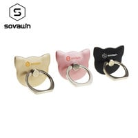 Sovawin Cat Finger Ring Back Holder Hook 360 Rotating Mount Mobile Phone Finger Grip Lazy Buckle Universal Stand for Phone