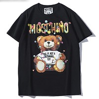 Trendsetter Moschino  Women Man  Fashion Cotton  Short Sleeve Shirt Top Tee