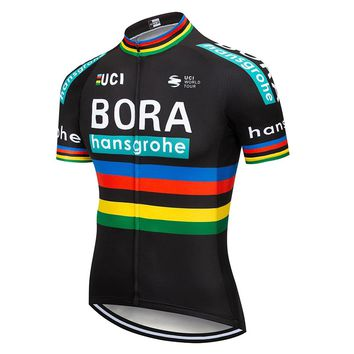 Men's BORA Pro Team Summer Cycling Jersey Short Sleeve Bicycle Jerseys Maillot Ciclismo Road Bike Cycling Clothing Tops
