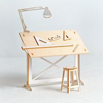 Miniature Drafting Table Model Kit