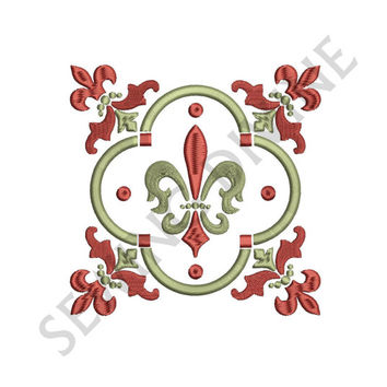 FLEUR de lis EMBROIDERY Design Decorative 4x4 5x7 6x10 Instant DOWNLOAD