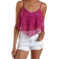 Tie-Back Lace Flutter Top by Charlotte Russe