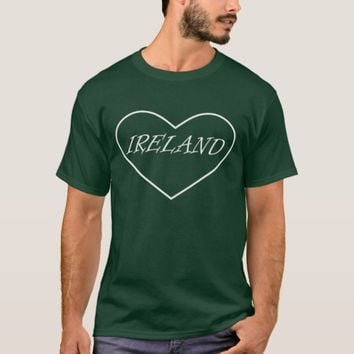 Irish Heart Mens Tee Shirt