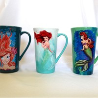 Disney D23 Expo Ariel /Little Mermaid Mug Set