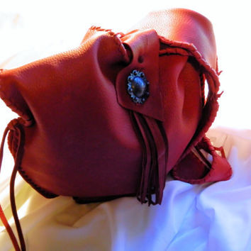Red Leather Slouchy Purse by LeatherCrafted on Etsy