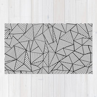 Abstraction Lines #2 Black and White Area & Throw Rug by Project M | Society6
