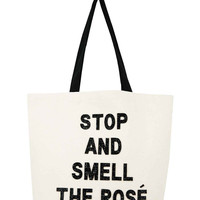 Limited Edition Beach Bag- Stop And Smell The Rose