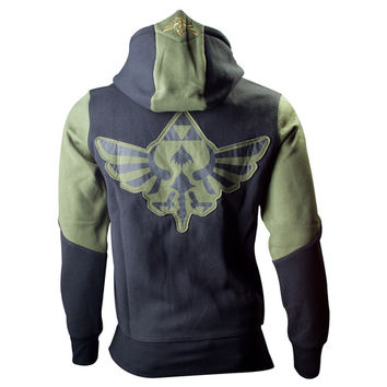 The Legend of Zelda Green-Black Crest Official Hoodie