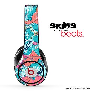 Abstract Map Skin for the Beats by Dre