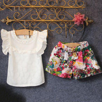 Summer Baby Girls Clothes Set