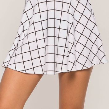 Windowpane Skater Skirt