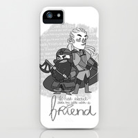 Legolas and Gimli quote iPhone & iPod Case by Little People