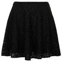 Black Lace Skater Skirt - Skirts  - Clothing