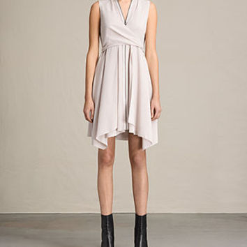 ALLSAINTS US: Womens Jayda Silk Dress (CHAMPAGNE PINK)