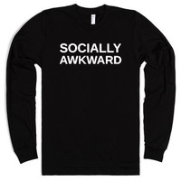 Socially Awkward-Unisex Black T-Shirt
