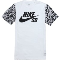 Nike SB Dri-Fit Dot Camo Fill T-Shirt - Mens Tee - White