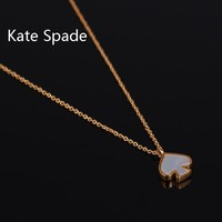 Kate Spade Fashion New Love Heart Necklace Women Accessories Golden