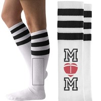 Cute Football Mom Socks: This Mom Means Business!