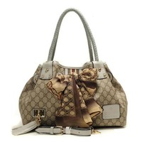 GUCCI Women Leather Fashion Shoulder Bag Tote Handbag