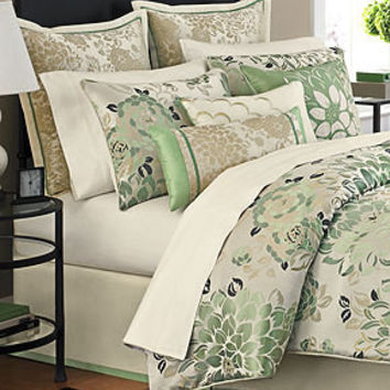 Martha Stewart Collection Bedding, Jade Flowers 9 Piece Comforter Sets - Bed in a Bag - Bed & Bath - Macy's