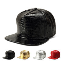 Hats PU Leather Diy Baseball Cap [10210215043]