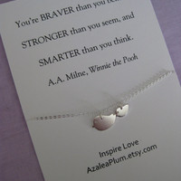 Sister Jewelry// Mother Daughter Jewelry // Inspirational // Delicate Sterling // Graduation Gift // Granddaughter // Best Friend Necklace